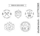 rustic monoline badges set of... | Shutterstock .eps vector #1117792385