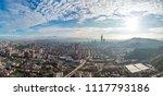 skyline of taipei city in... | Shutterstock . vector #1117793186