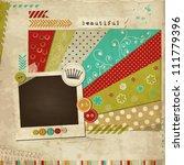 scrap template of vintage worn... | Shutterstock .eps vector #111779396
