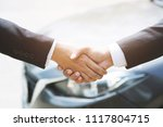 auto business. close up of a... | Shutterstock . vector #1117804715