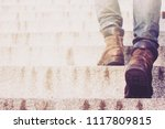 close up legs of young hipster... | Shutterstock . vector #1117809815