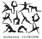 modern  stylish poses of yoga... | Shutterstock .eps vector #1117812998