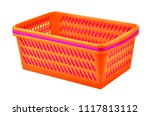 color plastic basket  isolated... | Shutterstock . vector #1117813112