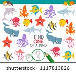 cartoon illustration of find... | Shutterstock .eps vector #1117813826