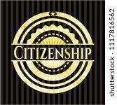 citizenship gold emblem or badge | Shutterstock .eps vector #1117816562