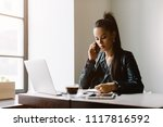 beautiful girl working out a...   Shutterstock . vector #1117816592