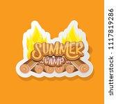 vector summer kids camp cartoon ... | Shutterstock .eps vector #1117819286