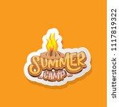 vector summer kids camp cartoon ... | Shutterstock .eps vector #1117819322