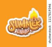vector summer kids camp cartoon ...   Shutterstock .eps vector #1117819346