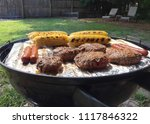 summer cookout in the backyard. | Shutterstock . vector #1117846322