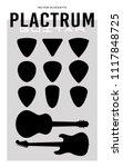 plectrum pick guitar set... | Shutterstock .eps vector #1117848725