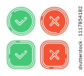 check mark icons set isolated... | Shutterstock .eps vector #1117854182