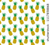 background with pineapples.... | Shutterstock .eps vector #1117858868
