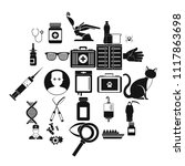 physician icons set. simple set ... | Shutterstock .eps vector #1117863698