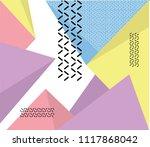 hipster modern geometric...   Shutterstock .eps vector #1117868042