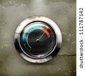 Speedometer  Old Style Vector