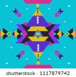 tribal vector ornament....   Shutterstock .eps vector #1117879742