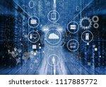 curios it engineer standing in... | Shutterstock . vector #1117885772