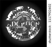 adoption on grey camo texture | Shutterstock .eps vector #1117902602