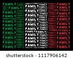 italian national flag flat... | Shutterstock .eps vector #1117906142