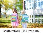 children go back to school.... | Shutterstock . vector #1117916582