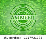 ambient green emblem with... | Shutterstock .eps vector #1117931378