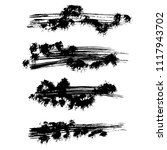 grunge ink brush strokes.... | Shutterstock .eps vector #1117943702