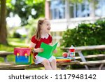 child going back to school.... | Shutterstock . vector #1117948142