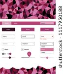 light pink vector wireframe kit ...