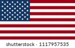 usa  amercan flag graphic vector | Shutterstock .eps vector #1117957535