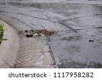 Flowing Water During Heavy Rain ...