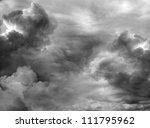 Dark Ominous Clouds. Dramatic...
