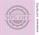 50  off pink emblem | Shutterstock .eps vector #1117967012