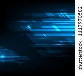 blue abstract technology... | Shutterstock .eps vector #1117970582