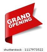 red vector banner grand opening | Shutterstock .eps vector #1117973522
