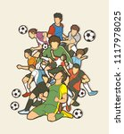 soccer player team composition  ... | Shutterstock .eps vector #1117978025