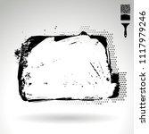 black brush stroke and texture. ... | Shutterstock .eps vector #1117979246
