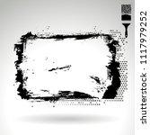 black brush stroke and texture. ... | Shutterstock .eps vector #1117979252