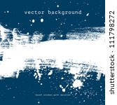 blue vector grungy brush stroke ... | Shutterstock .eps vector #111798272