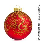 Red Christmas Decoration Ball...