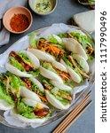 homemade asian vegetarian...   Shutterstock . vector #1117990496