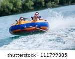 Young Couiple On Water...