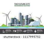 smart eco city banner ... | Shutterstock .eps vector #1117995752