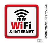 free wifi and internet sign... | Shutterstock .eps vector #111799868