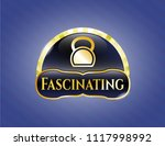 golden emblem or badge with... | Shutterstock .eps vector #1117998992
