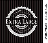 extra large silver badge or... | Shutterstock .eps vector #1118016632