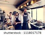 Chef Coooking In Restaurant...
