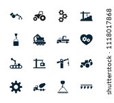 machinery icon. collection of... | Shutterstock .eps vector #1118017868
