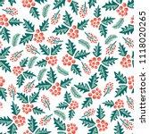 mistletoes seamless vector... | Shutterstock .eps vector #1118020265