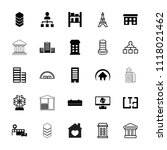 structure icon. collection of... | Shutterstock .eps vector #1118021462